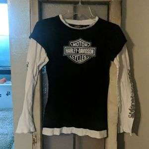 Sparkly, tattooed, long sleeve t-shirt
